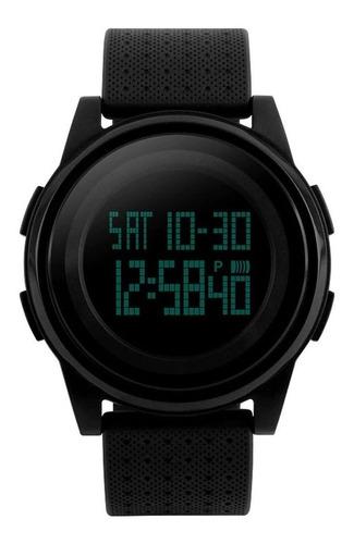 Relógio Skmei 1206 Slim Pulseira De Silicone Preto C/ N F