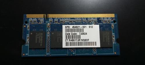 Memoria Sodimm Pc2-5300s-555 512 Mb 1rx8 Ramaxel Elpida Ntbk
