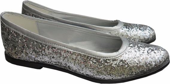 Zapatos Balerinas De Brillos O Glitters Para Dia O Fiesta 42