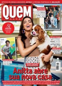 Revista Quem Acontece - Anitta Nicolas Prattes - Marina Ruy