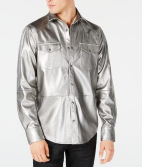 Inc International Concepts Camisa Color Plata Talla Xxl