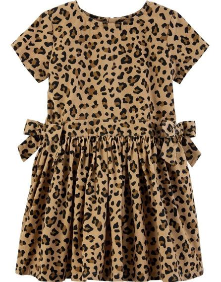 Vestido Carters Sarja Oncinha Aveludado 2 Anos Original