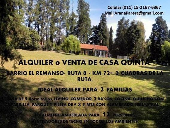 Alquiler Verano Temporada - Quinta - El Remanso 1hectarea