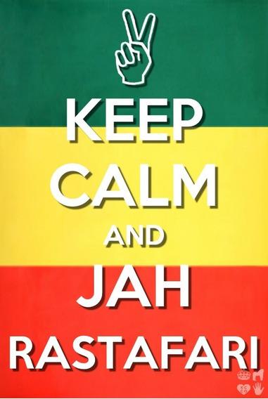 Camisa Camiseta Em Algodão- Keep Calm And Jah Rastafari