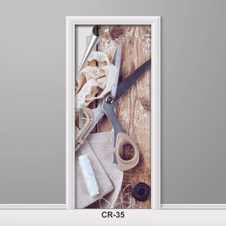 Adesivo Para Porta Ateliê Costura Roupas Criativo Cr-35