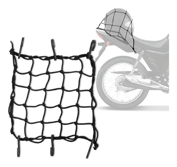Rede Elastica Aranha Para Moto/ Prende Capacete 35cmx35cm