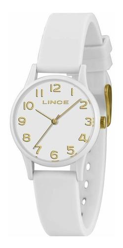 Relógio Lince Lrcj102p B2bx Feminino Silicone Branco