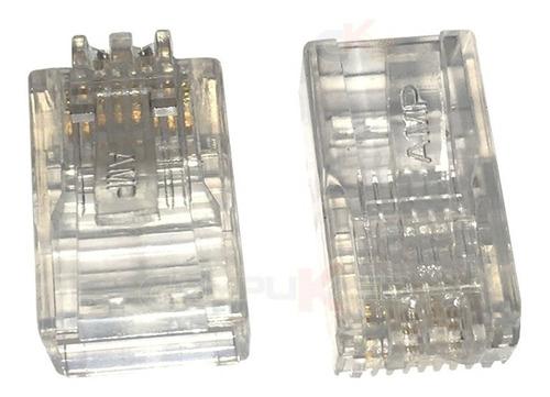 Plug O Conector Rj-45 Cat 5e Caja X 100 Unidad Generico Rj45