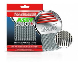 Peine Fino Assy 2000 De Acero Inoxidable Con Micro-canales