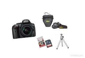 Nikon D5300 18-55mm+64gb+ Bolsa+mini Tripé- Pronta Entrega