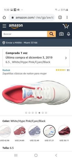 Zapatillas Deportivas Reebok Mujer 6.5 Blanco