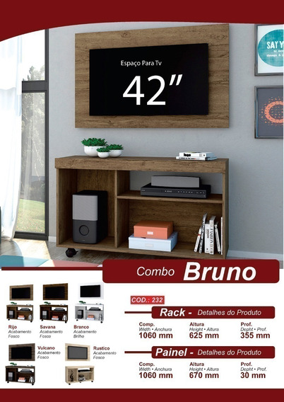 Combo Bruno Painel E Rack
