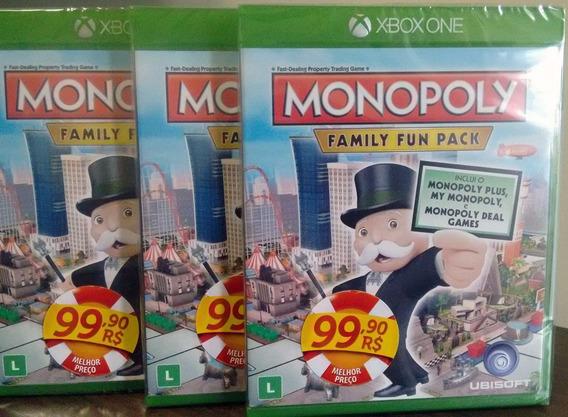 Monopoly Family Fun Pack Xbox One Mídia Física Novo Lacrado