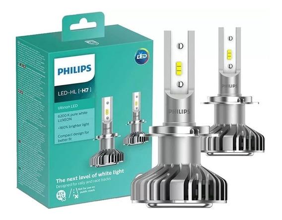Kit Lampada Led H7 Philips Ultinon 12v 6200k Original Nova