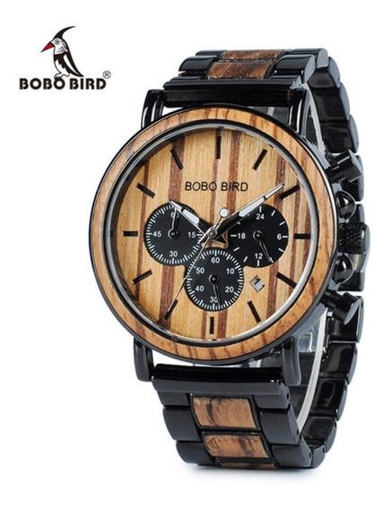 Reloj De Madera Bobo Bird Original Café