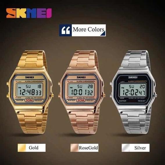 Relógio Masculino Feminino Vintage Skmei Promoção Com Caixa