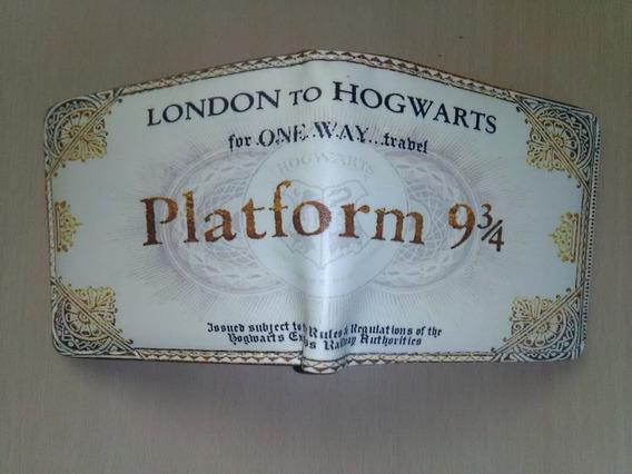 Cartera Billetera Ticket Boleto Hogwarts Plataforma 9 3/4