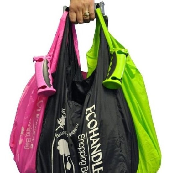Bolsa Reutilizable Reciclada Con Mango Plastico Reusable
