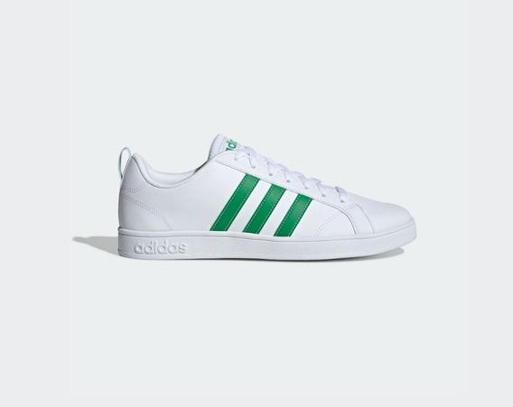 Tenis adidas Advantage Originales Blanco Verde Hombre 7.5