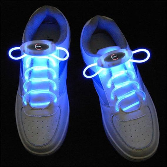 Ywxlight Blue 80cm Flash Light Glow Led Sport Shoe Laces