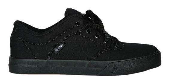 Tênis Freeday Skate Preto Black Flip Eco Masculino E Feminino Casual Confortável Original Promoção Envio Imediato