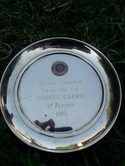 Antiguo Trofeo 2do Premio Casin Club Gimnasia Y Esgrima