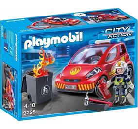 Brinquedo Playmobil City Action Bombeiro Com Carro 9235