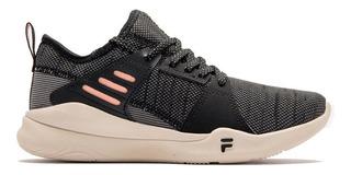 Zapatillas Fila Mujer Essential W Negro/coral - Fitness