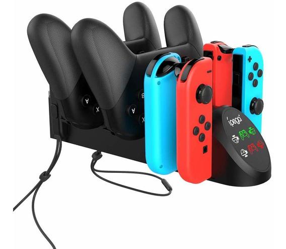 Base Carregador Nintendo Switch Joy-con Pro Controller 2 Usb