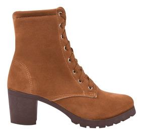 Bota Coturno Sapato Feminino Tratorada Salto Cano Curto 29/e