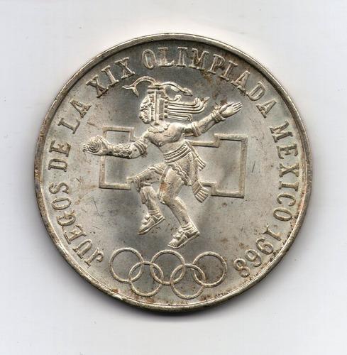 Mexico Moneda De Plata 1968 25 Pesos P#479.1 - Olimpiadas