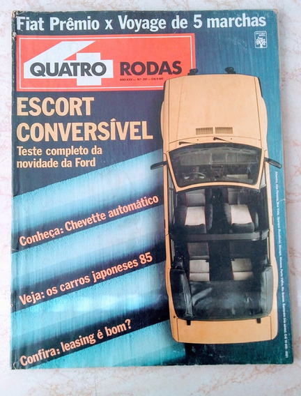 Revista Quatro Rodas 297 Abr 1985 Escort Conv Chevette Autom