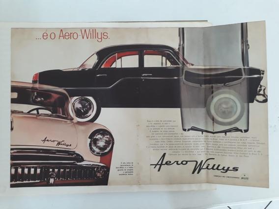 Propaganda Antiga Aero Willys Raro