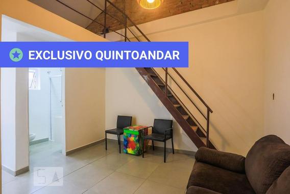 Apartamento Térreo Mobiliado Com 1 Dormitório E 1 Garagem - Id: 892987783 - 287783