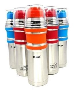 Termo Mega 1 Litro 24 Hs Frio -12 Hs Caliente Acero Inoxidab