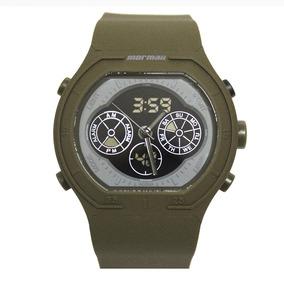Relógio Masculino Mormaii Mo160323al/8v Verde Militar
