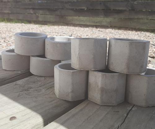 Mini Macetas Concreto Souvenir 30 Octogonales + 20circulares