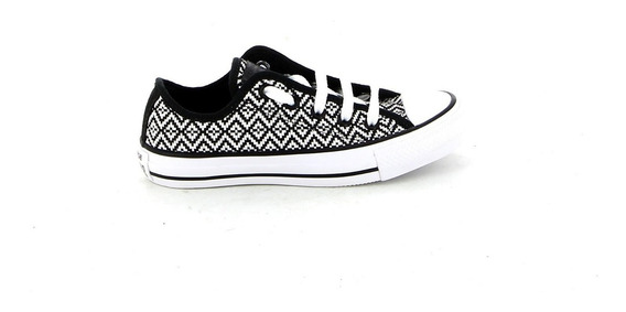 Championes Converse Mujer Chuck Taylor All Star Black And Wh