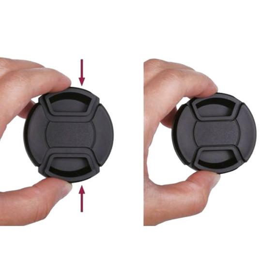 Tampa De Lente Frontal 82mm Fuji Nikon Canon Sony Com Corda