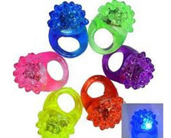 50 Pzs Anillo Goma Luminoso Batucada Multicolor Bodas