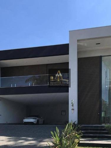 Imagem 1 de 22 de Magnifica Casa Á Venda No Residencial Tamboré 2 - Alphaville - Confira! - Ca2403