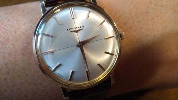 Reloj Longines Suizo De Cuerda Baño De Oro Extra Plano