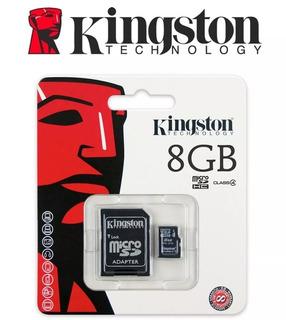 Cartão De Memória 8gb Micro Sd Hc Kingston - Pronta Entrega.