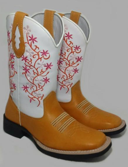 Bota Texana Country Feminina Flores 35 Ao 41