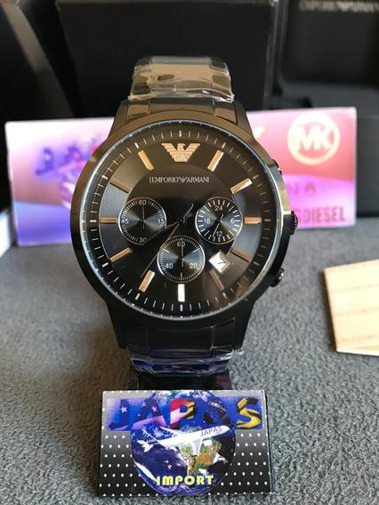 Relógio Emporio Armani Ar2453 Preto Original Completo Caixa