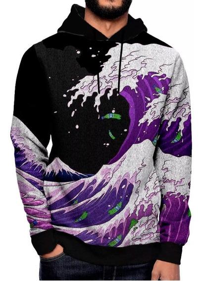 Moletom + Camiseta Roupa Hiphop Purple Wave Purple Swag