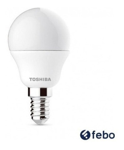 Lampara Led Bombita Toshiba 5w/40w 470lm Mini Globo E14 Febo