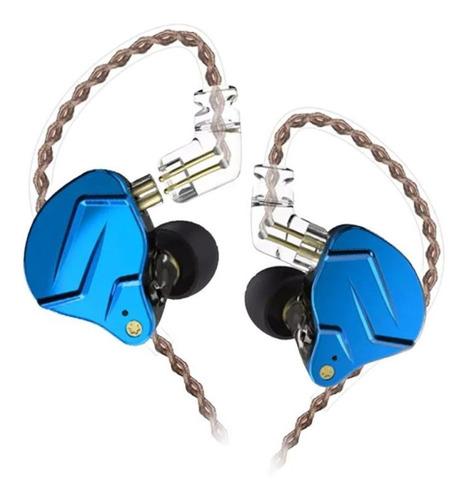 Fone Kz Zsn Pro Royal Blue  Sem Micro + Case Pronta Entrega