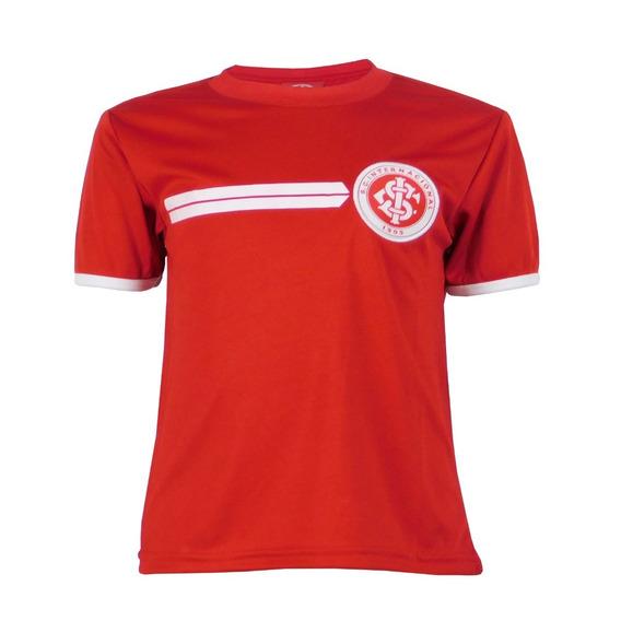 Camiseta Do Internacional Infantil Vermelho Dry Inter Branco