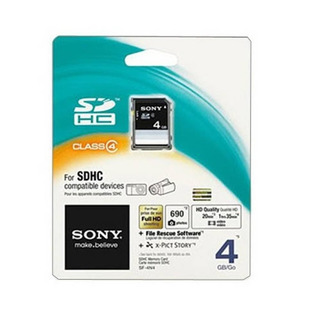 Cartão De Memória Sdhc Sony 4gb Preto